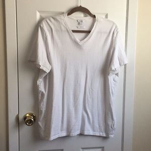 Men's Calvin Klein White V-Neck T-shirt Slim Fit